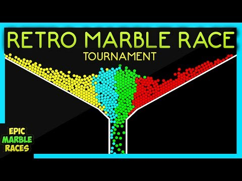 Epic Marble Race Tournament Retro Marble Run