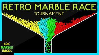 Here is a 4 color retro style epic marble race tournament. There ar...