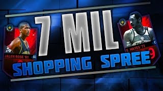 NBA Live Mobile 7 MILLION COIN SHOPPING SPREE!! YouTube RECORD! ~ NBA Live Mobile