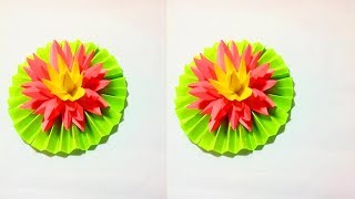 Easy Paper Flower Making || DIY Easy Paper Flower Tutorial || Crafts Design