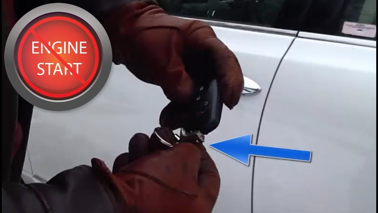 Getting into any car with a dead key fob or smart key battery and a hidden  key hole!
