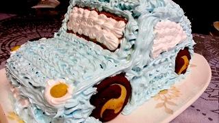 Торт машинка! Просто и вкусно!/ Cake Car! How to make cake car!
