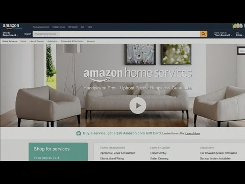 "Amazon launches ""Home Services"""