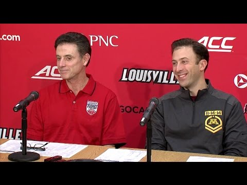 Richard, Rick Pitino Preview Gophers vs. Louisville (Press Conference)