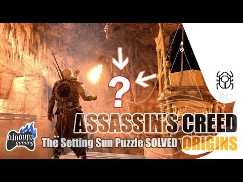 🎮 AC Origins The Hidden Ones: The Setting Sun Puzzle SOLVED Gamilat Mission Bug