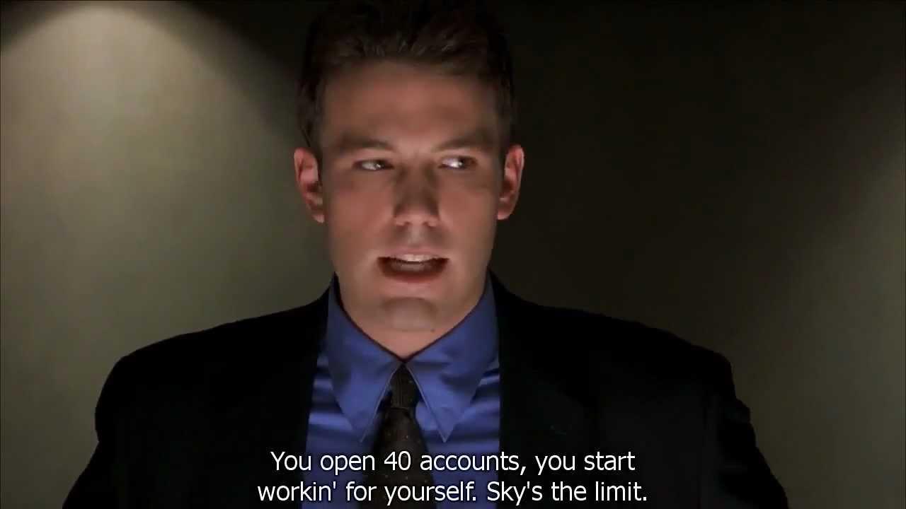 Ben Affleck's In Boiler Room Doing His Recruitment Speech