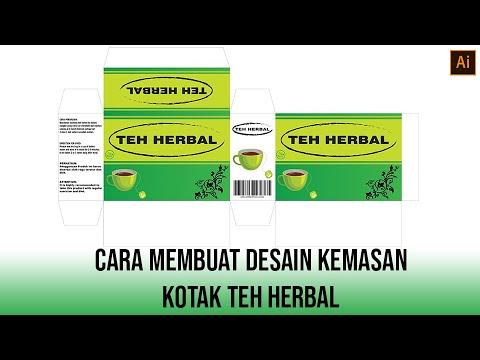 Cara membuat desain kemasan kotak teh herbal di adobe ...