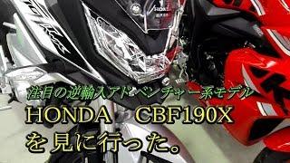 逆輸入アドベンチャー系バイクのホンダCBF190Xを見に行きました。(ホンダCBF190X) thumbnail