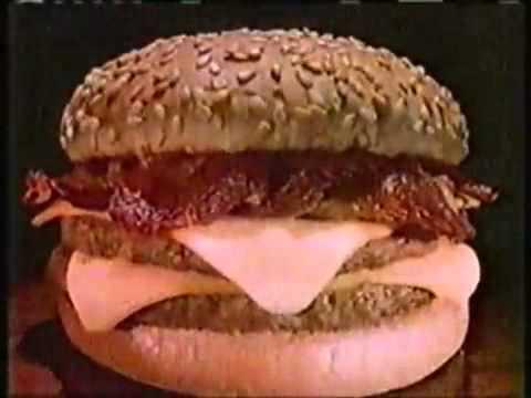 Burger King 1982 Bacon Double Cheeseburger Jingle Commercial 70s 80s