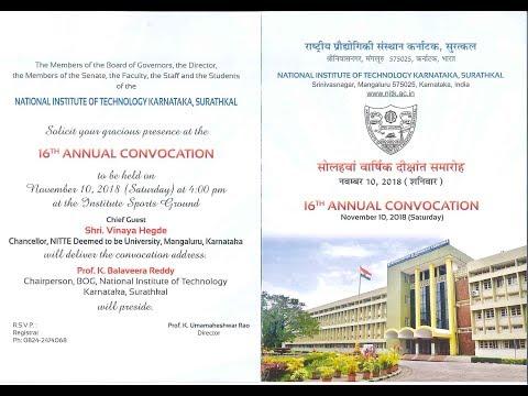 16th Annual Convocation - NITK Surathkal