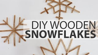 How To Make A DIY Wooden Popsicle Snowflake