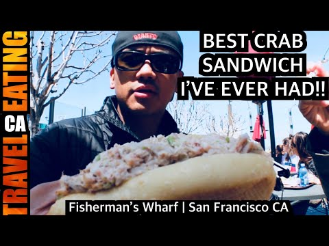 Best Crab Sandwich I've Ever Had (fishermans Wharf In SF CA)