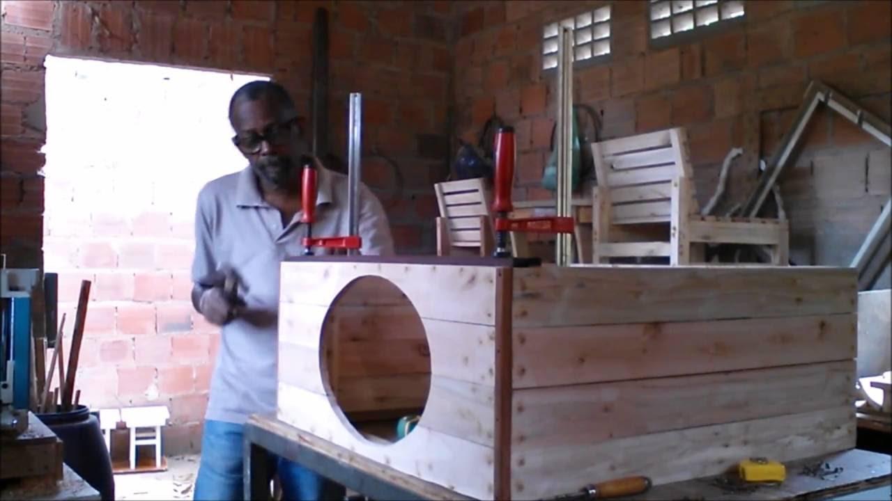 Pia de banheiro feita com pallets youtube for Salle de bain en bois de palette