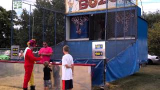 mount hope fire co firefighter clown vs bozo the fair dunk tank clown 8 24 2014 take 1