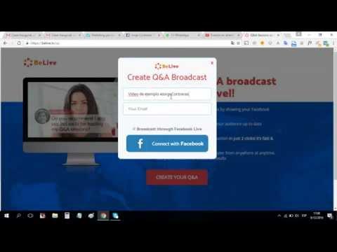 Como crear una transmisión en vivo con BeLive.tv