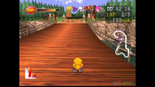 Chocobo Racing - Gameplay PSX / PS1 / PS One / HD 720P (Epsxe)