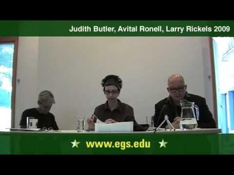 Avital Ronell, Judith Butler, Laurence Rickels: Arendt ...