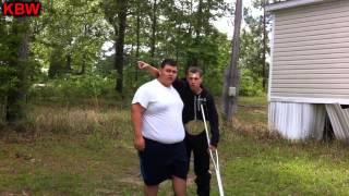 Trampoline Wrestling: KBW- THE BULLDOZER vs 2 Renegades