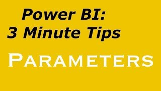 Power BI - Specifying Parameters for Data Source