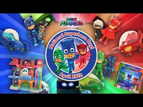 NATIONAL SUPERHERO DAY WITH THE PJ MASKS!!! | A Toy Insider Play by Play