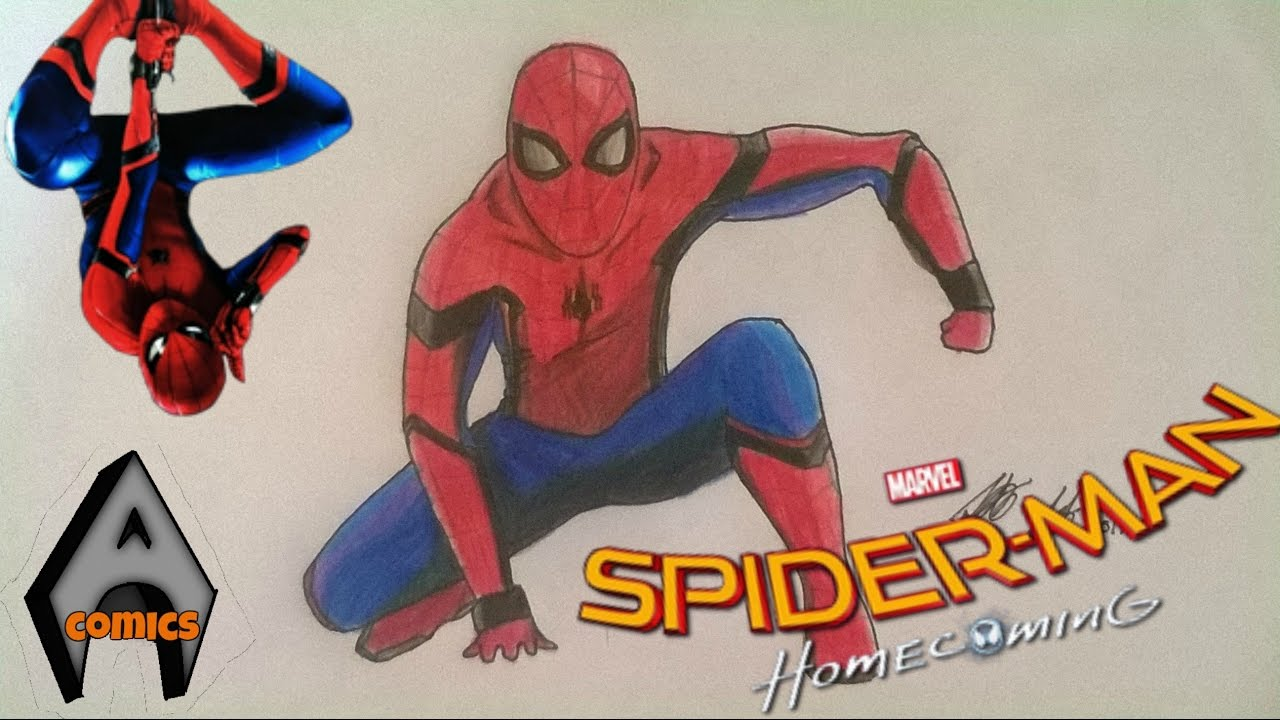 DRAWING Spider - Man / spider-man homecoming / speed ...