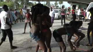 Bikini Girl At Wash Bay in Guyana Annandale 2014 pt2