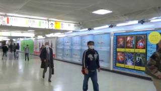 〈movie〉Billboard AD TOKYO, JAPAN - Shinjyuku Station HOT 100 Grap...