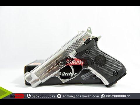Airsoft Gun Beretta M84 Siver Wingun Youtube