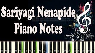 Sariyagi Nenapide, Mungaru Male 2, Arjun janya, Piano Notes, Midi, Karaoke