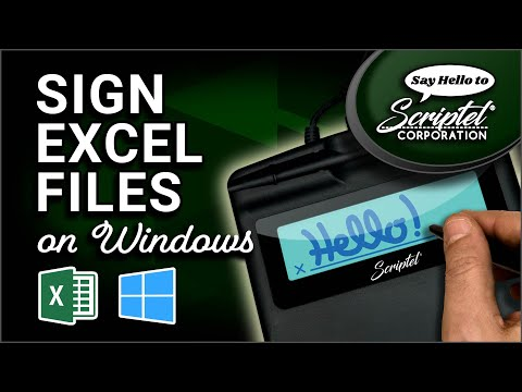 Installing The Microsoft Excel Plugin And Signing A Document