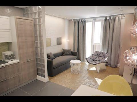 Интерьер маленькой квартиры студии 28 кв.м. (фото) - YouTube