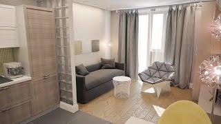 Интерьер маленькой квартиры студии 28 кв.м. (фото)(Дизайн квартиры-студии 28 кв. м. разработан с таким расчетом, чтобы уместить в небольшом пространстве все..., 2015-11-26T17:57:06.000Z)