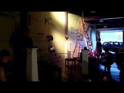 FLUX (Cilla Vee Life Arts, Claire Barratt) at New Dischord Festival, Chattanooga, TN, June 9, 2013