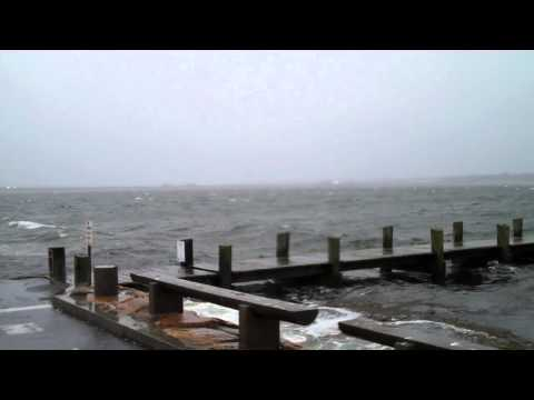 Hurricane Sandy reaches New Bedford, Massachusetts