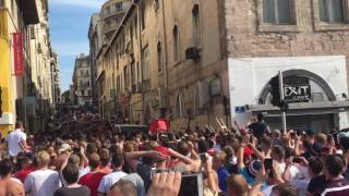 England fans push back Russian attacks on the streets of Marseille