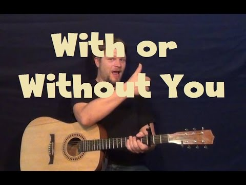 With Or Without You (U2) Easy Strum Guitar Lesson How to Play ...