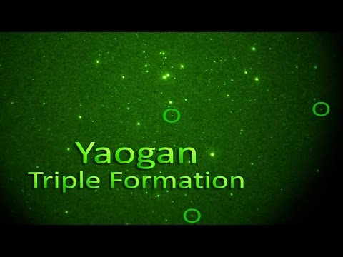 Yaogan Satellite Formation passes Hyades Star Cluster (+ID)