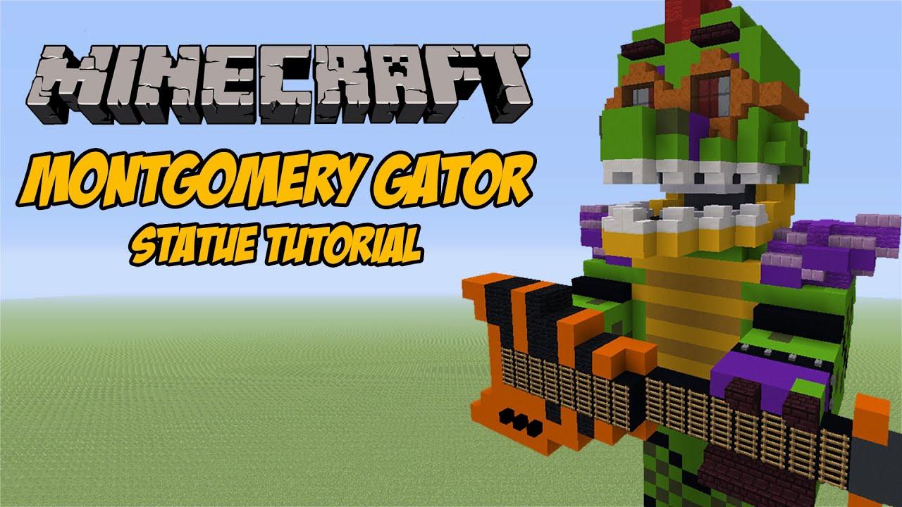 Minecraft Tutorial: Montgomery Gator (FNAF: Security Breach) Statue