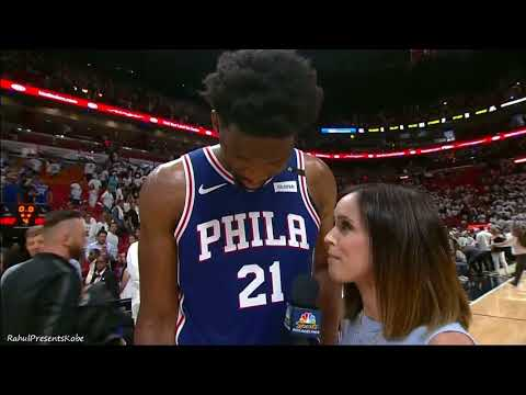 Joel Embiid's Hilarious Interview, Swears on Live TV after Game 3 vs. Miami Heat (04/21/2018)