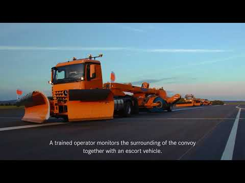 Daimler's Arocs driverless trucks in action