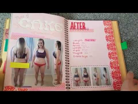 Completed Green Tasty Style SMASH*book Weight Loss Journal Flip Through