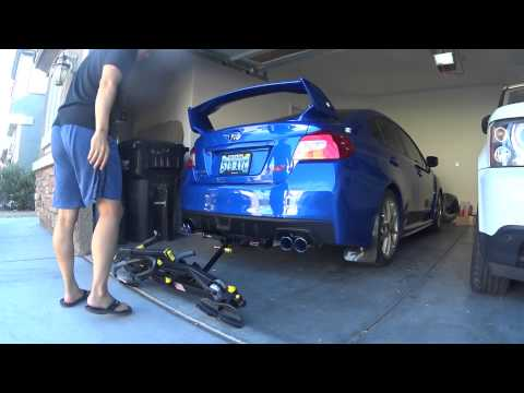 2015 2016 Subaru Wrx Sti Hitch And Saris Superclamp 2 Rack