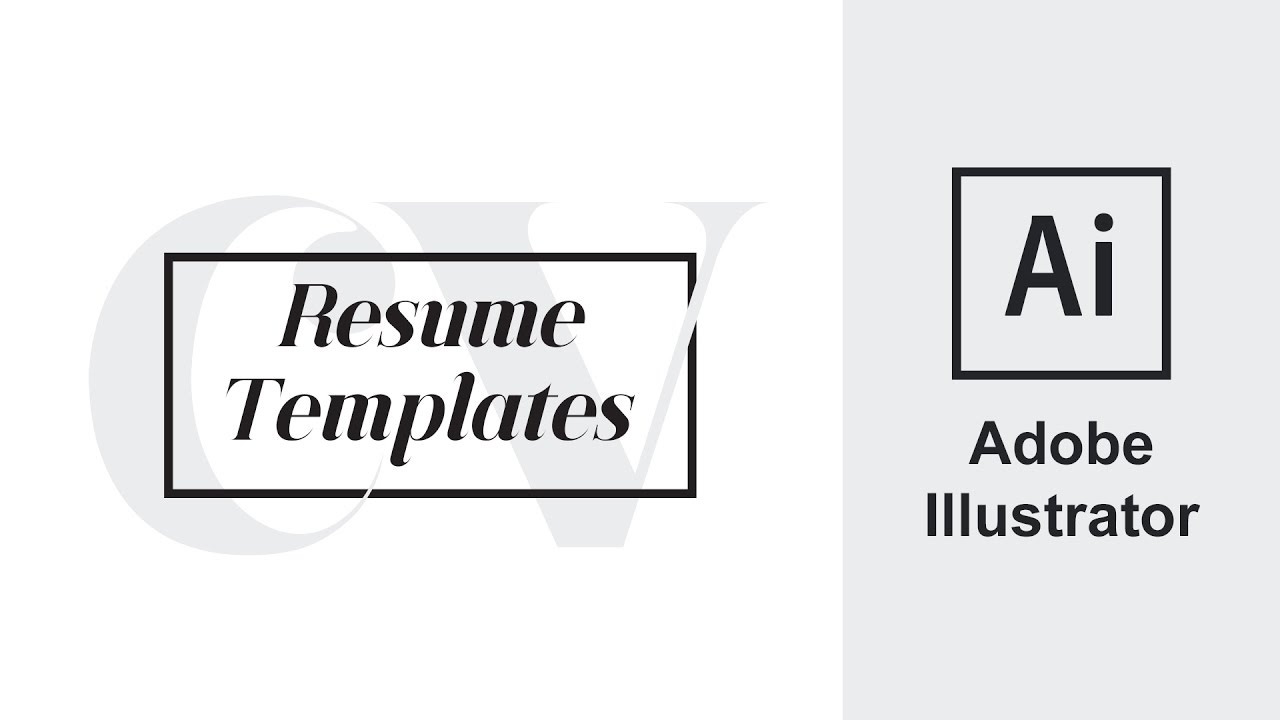 adobe illustrator resume cv how to edit adobe illustrator resume cv how to edit