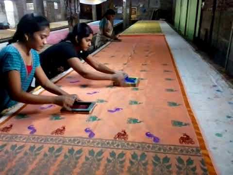 saree screen printing