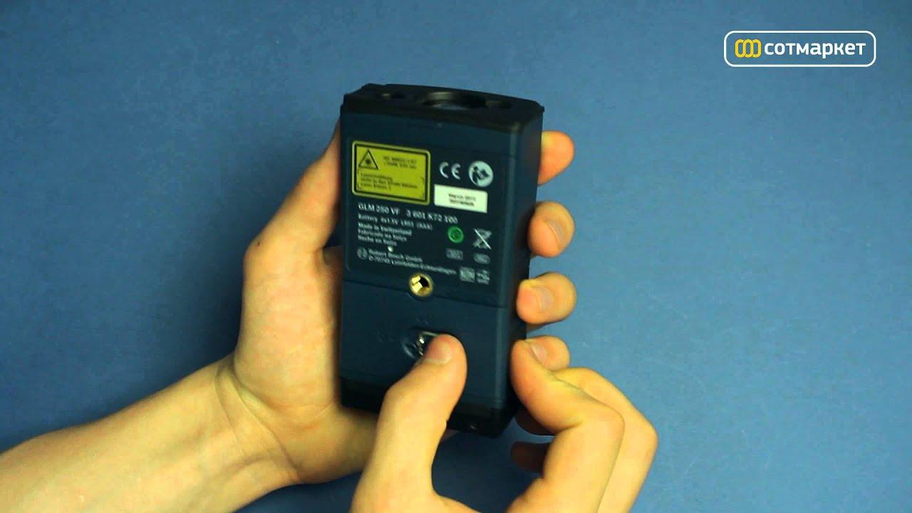 Laser Entfernungsmesser Bosch Glm 250 Vf : Видео обзор дальномера bosch glm vf от Сотмаркета