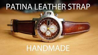 PATINA LEATHER STRAP-HANDMADE- FOSSIL jake JR1157 WATCH-HOW IT MADE-DIY.