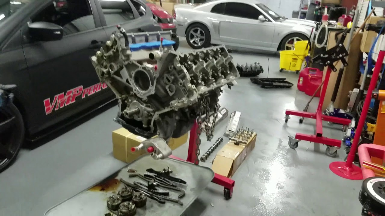 11-14 Cam installation on Coyote engine  And Oil pump gear drop test