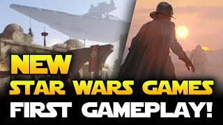 New Star Wars Games Revealed! FIRST GAMEPLAY! Battlefront Bespin & Death Star DLC! (EA Play Trailer)