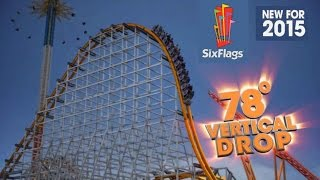 NEW Rides For Six Flags Theme Parks in 2015! ... Big Announcement! Roller Coaster