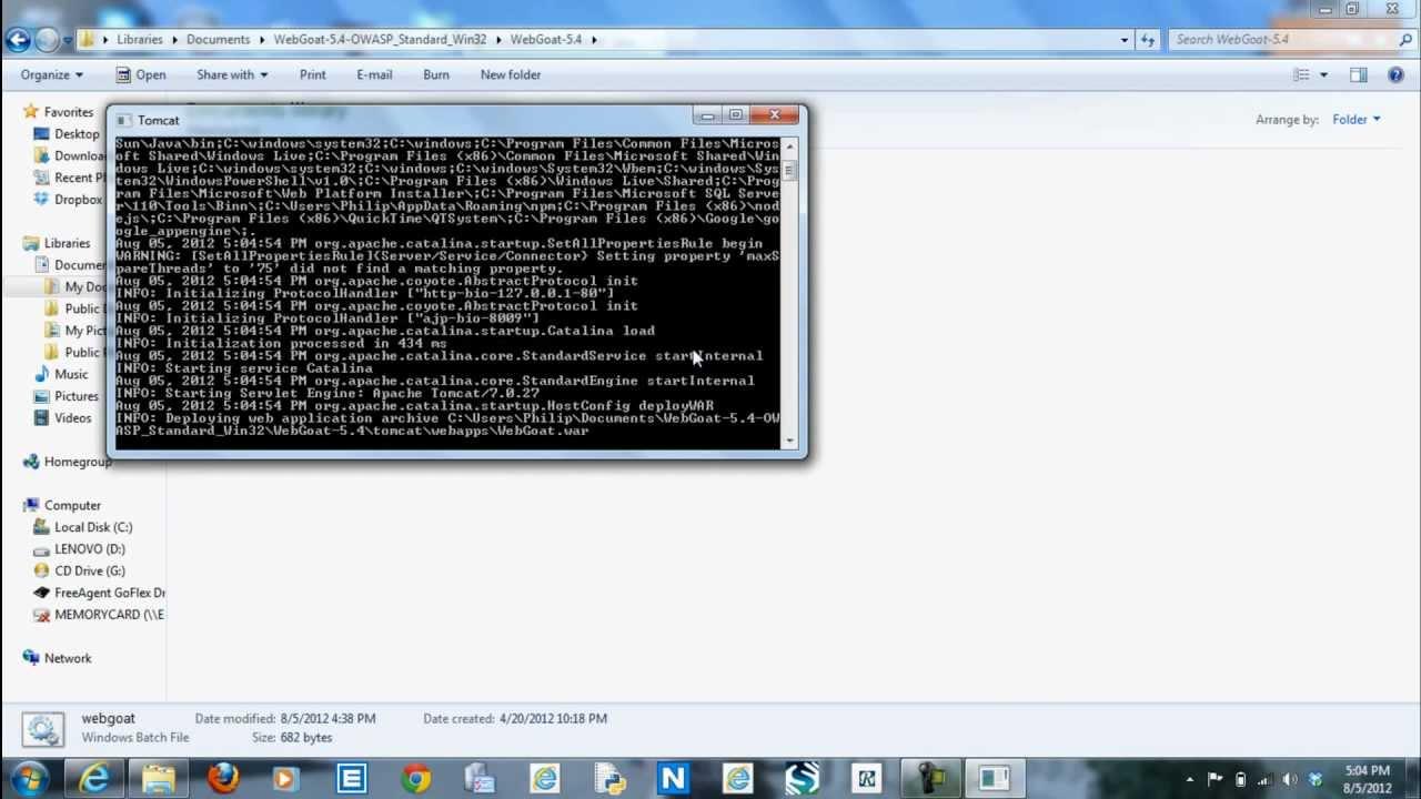 WebGoat tutorial